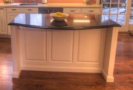 what is the depth of a base cabinet shallow island with a top by recessing the knee