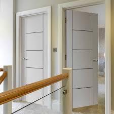 jb kind eco colour linea white flush door black grooved pre finished