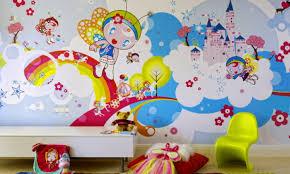 wallpaper designs for kids fantastic kids bedroom interior design ideas with rectangle table