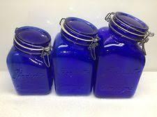 cobalt blue kitchen canisters i ended up finding a beverage dispenser that matched my jars i