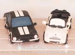 car wedding cake toppers mini cooper and ford maverick car wedding cake toppers