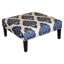 Ikat Ottoman Pottery Barn Ottomans And Benches Kristine Upholstered