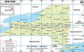 united states map with longitude and latitude cities from which new york state location would polaris be observed to