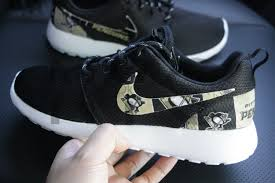 pittsburgh penguins hockey nike roshe run black custom