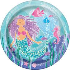 mermaid party supplies mermaid paper plates mermaid party supplies