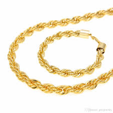 gold braided necklace images 2018 copper mens rope chain set 6mm gold silver chain necklace jpg
