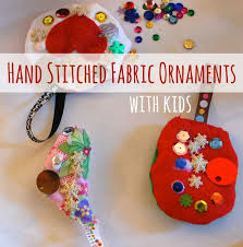 crafts ideas stitched ornament with