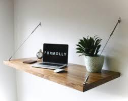 Modern Floating Desk Floating Desk Etsy