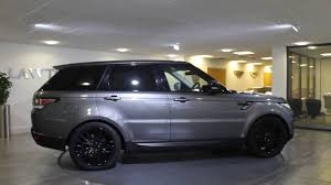 black land rover with black rims range rover sport hse dynamic corris grey with black lawton brook