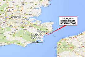 English Channel Map Smuggler Boats In The Channel 18 Albanians And 2 Brits Rescued