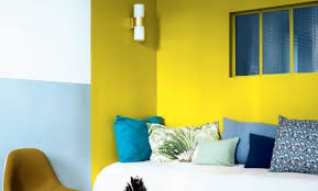 chambre jaune et bleu deco chambre jaune et gris chambre bebe garcon orange deco chambre