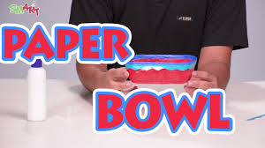 how to make a paper bowl diy art u0026 craft videos for kids from