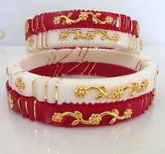 shakha pola bangles indian ethnic designer traditional white pola shakha fashion