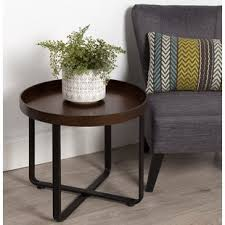 small metal end table small round metal accent table wayfair