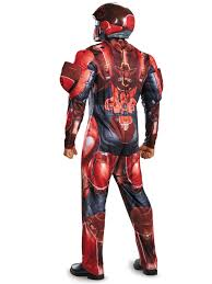 halo red spartan muscle costume board u0026 video games costumes