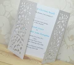 gatefold wedding invitations flower laser cut gatefold wedding invitation by sweet pea design