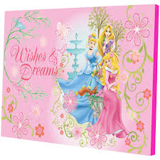 kids wall decals walmart com disney princess led light up canvas wall art