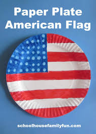 paper plate american flag for fourth of july or memorial day by