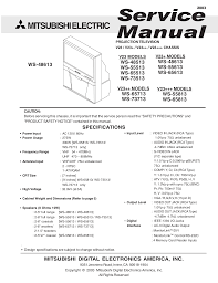 download free pdf for mitsubishi ws 65813 tv manual