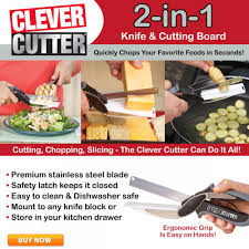 Dishwasher Safe Kitchen Knives Clever Cutter Knife U0026 Cutting Board Asseenontv Com Store