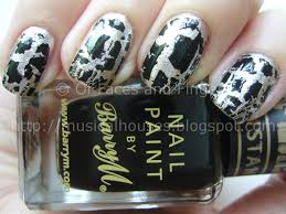 barry m instant nail effects black and silver crackle of faces