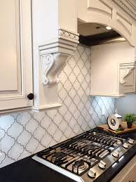 snow white arabesque glass mosaic tiles arabesque kitchen