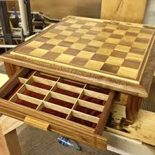 Board Game Storage Cabinet Custom Chess Boards Pieces And Sets Handmade Wooden