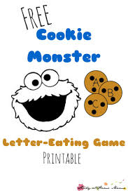 free cookie monster letter eating game printable hands on