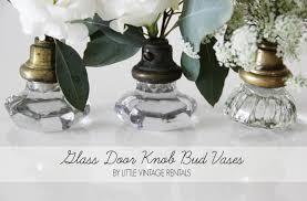 Mini Bud Vases Diy Glass Door Knob Bud Vases Featured On Wedding Pretty
