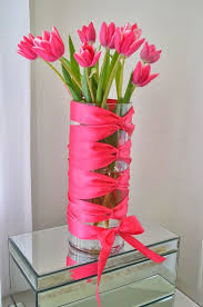 How To Decorate Flower Vase 14 Best Ribbon Vases Images On Pinterest Centerpieces Floral