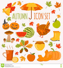 thanksgiving vector art autumn icon set halloween and thanksgiving day flat design stock