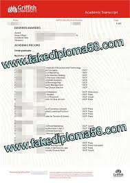 griffith university transcript sample buy transcript fakediploma58