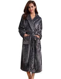 robe de chambre polaire aibrou pyjama femme polaire robe chambre homme longue hiver sortie