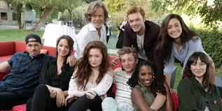emmy rossum u0026 u0027shameless u0027 cast watch season 7 premiere at william