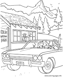 summer vacation coloring pages going to a national park in a summer 117d coloring pages printable