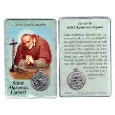prayer card alphonsus liguori prayer card with medal