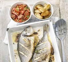 cuisine salsa roast whole fish with salsa romesco recipe food