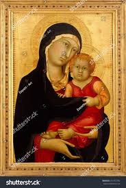 simone martini artist madonna child by simone martini 1326 stock illustration 751012750