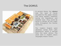 Roman Domus Floor Plan Green Building In Ancient Rome
