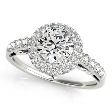 cheap unique engagement rings style duet halo side diamond engagement ring