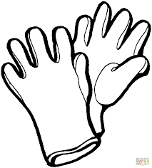 gloves coloring page free printable coloring pages