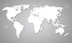 Map Of Thr World by Contour Map Of The World On Paper Style Royalty Free Cliparts