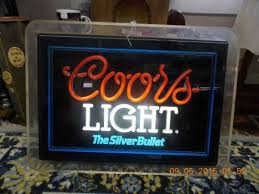 vintage coors light neon sign vintage coors light beer neon sign picture of wagon wheel antiques