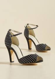 chelsea crew fine dining peep toe heel in dotted black modcloth