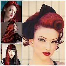 Retro Frisuren Lange Haare by Lange Retro Frisuren Auf Dem Roten Haar Smart Frisuren