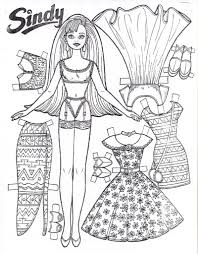 free printable paper doll coloring pages for kids pertaining to