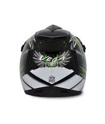 vega motocross helmet vega helmet off road graphic monster black base with green