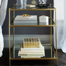 Curved Nightstand End Table Terrace Nightstand Antique Brass West Elm