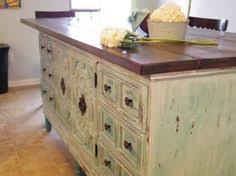 repurposed kitchen island ideas transformed vintage dresser to kitchen island dresser nest and