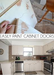 how to paint kitchen cupboards doors easily paint cabinet doors diy a bigger